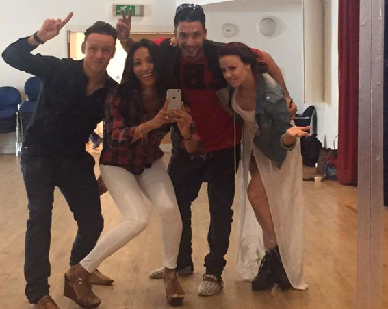 Karen Hauer posted this picture as they were the first to arrive [Karen Hauer/Twitter]