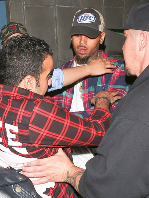 Chris Brown, attacked, night club [AKM-GSI/Splash News]