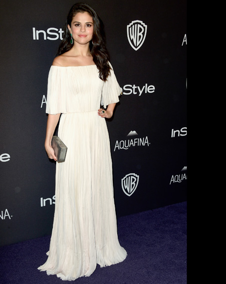 Selena Gomez  looks angelic in this white dress [Getty]
