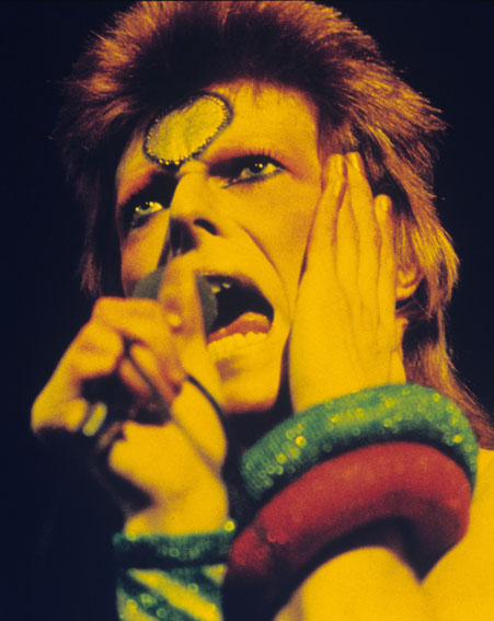 David Bowie performs on stage at Earls Court in 1973 [Getty]