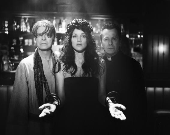 David Bowie films his video for The Next Day in 2013 with Marion Cotillard and Gary Oldman [Wenn]