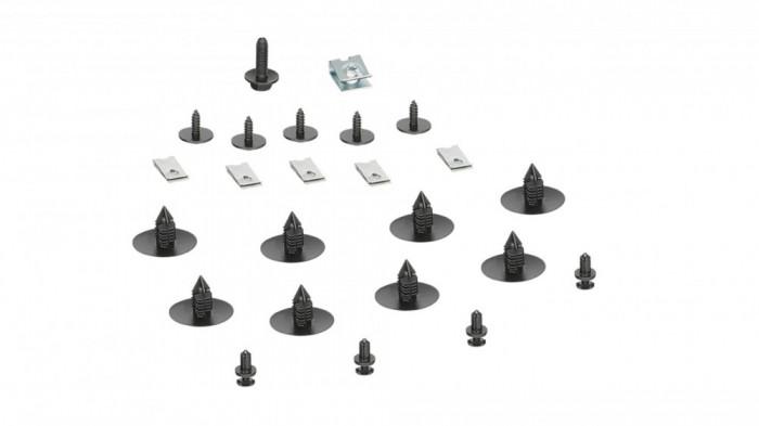 Set 24 buc agrafe mentinere carenaj + cleme fixare aripa