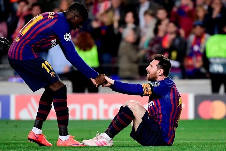 Messi y Dembelé en el Barsa, una sociedad que no terminó de explotar.