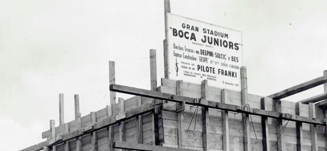 La construcción de la Bombonera comenzó en 1938.