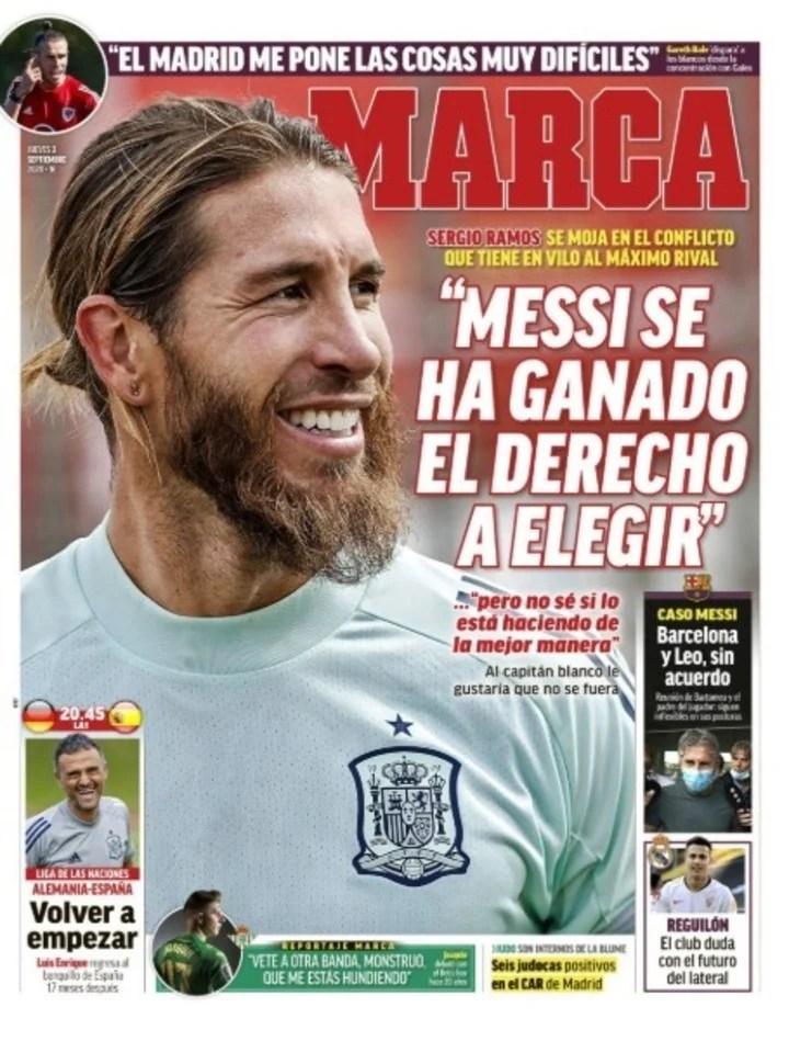 Marca eligió la tapa de Sergio Ramos.