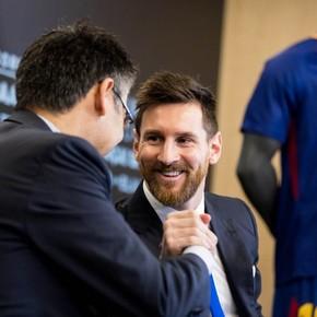 El primer tuit del Barsa a Messi