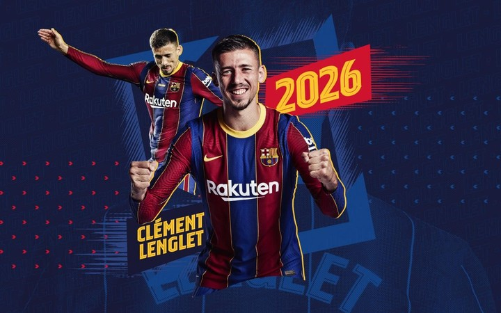 The Barsa renewed Lenglet.  (@FCBarcelona_es)