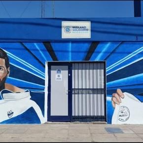 The Midland mural to Maradona and Messi