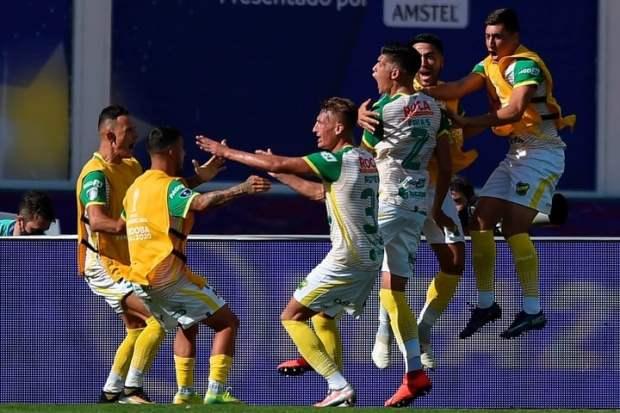 El Halcón grita el 1-0. (AFP)