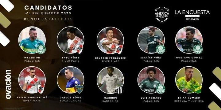 Los candidatos a mejor jugador 2020. Foto: Ovación