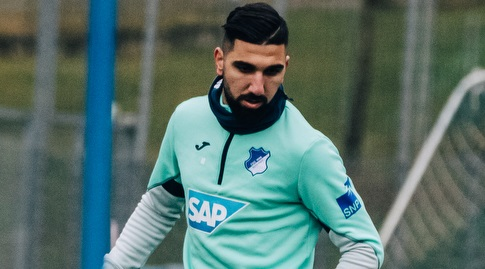 Mons Dabur in Hoffenheim Training (Hofnheim Official Website)