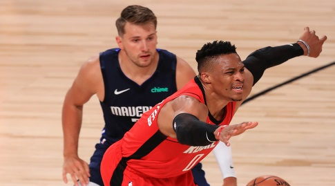 Luka Doncic vs. Russell Westbrook (Reuters)