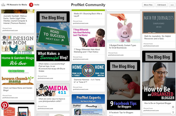 pinterest page blogging tips
