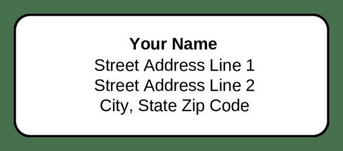 address label teriz yasamayolver