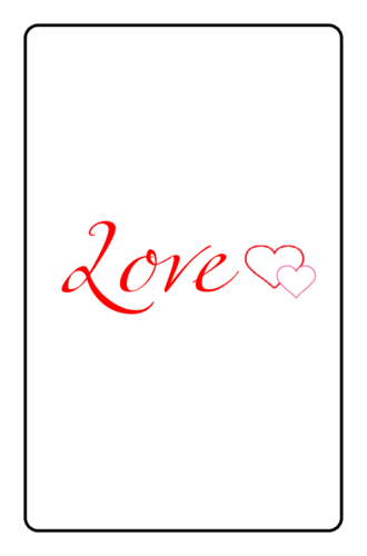 Love with Hearts Valentine's Day Printable Mini Candy Bar