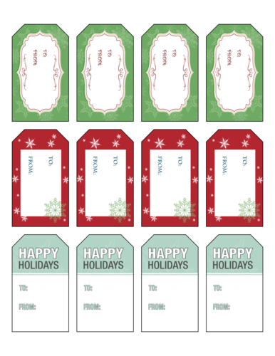 christmas label templates download
