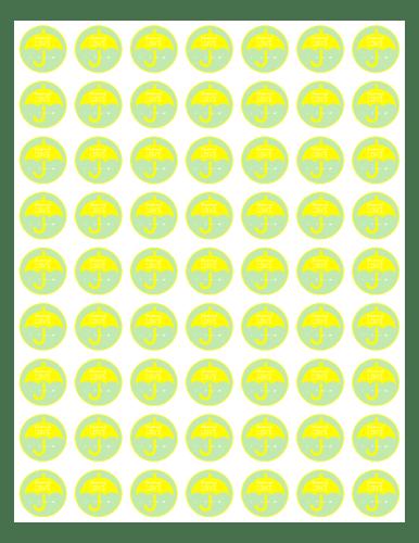 Baby Shower Umbrella Favor Amp Decoration Label Yellow