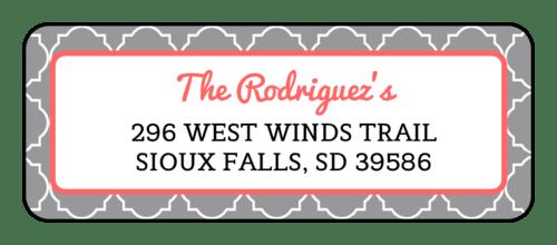 quatrefoil return address labels