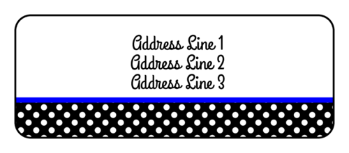 polka dot label templates