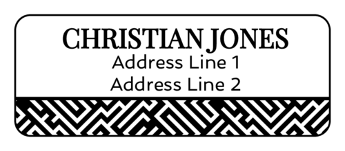 maze pattern address labels
