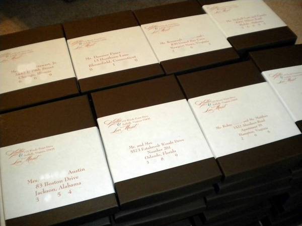 Wedding Box Invitation Labels  Customer Ideas
