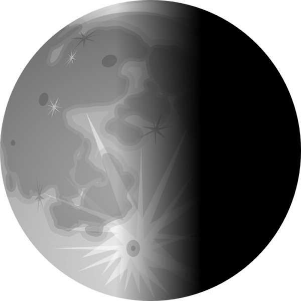Onlinelabels Clip Art - Moon 3