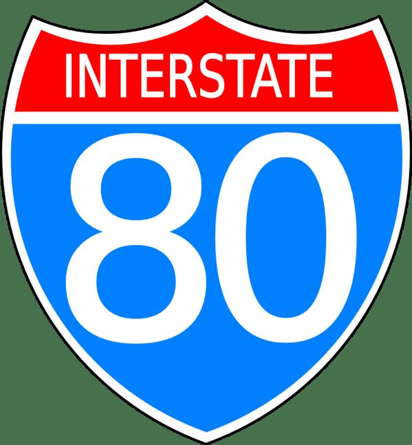 Onlinelabels Clip Art - Interstate Highway Sign
