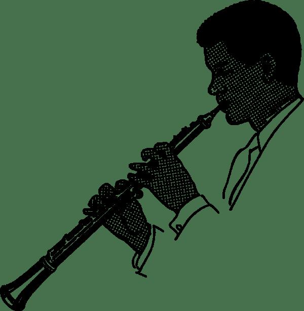 Onlinelabels Clip Art - Oboe Player
