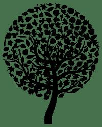 OnlineLabels Clip Art - Abstract Tree Silhouette Mark II