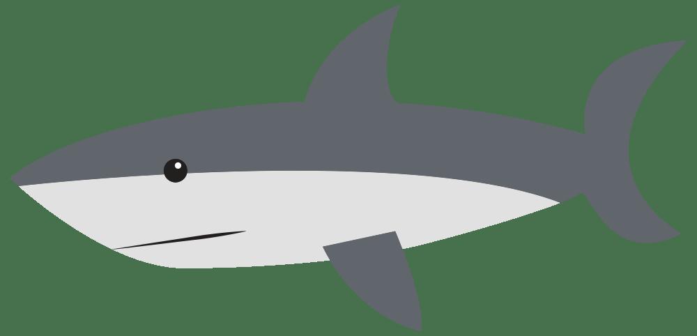 OnlineLabels Clip Art  Cartoon Shark