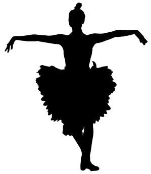 silhouette ballerina clip puffy clipart dancing svg drawings easy kartun onlinelabels pngkit library pinpng