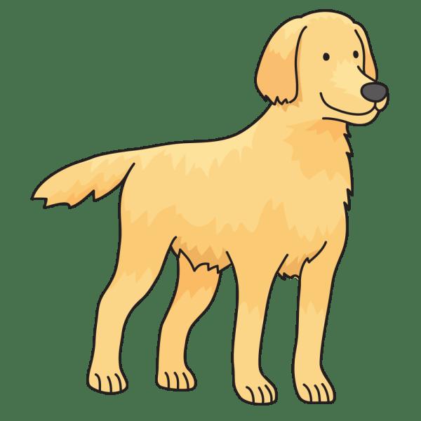 onlinelabels clip art - dog golden