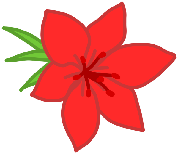 onlinelabels clip art - red flower