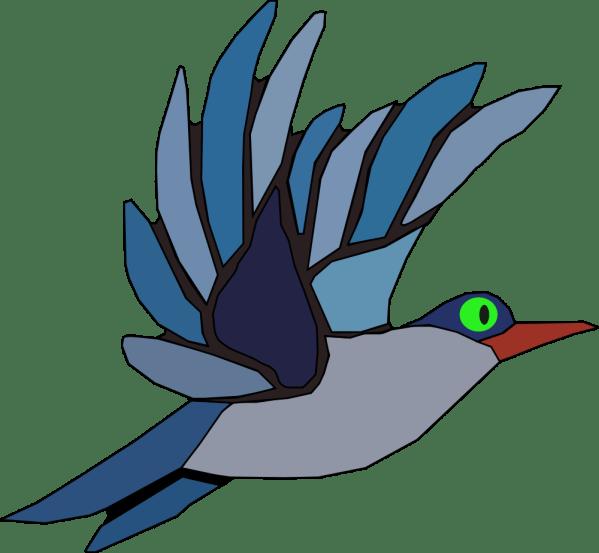 Onlinelabels Clip Art - Blue Bird