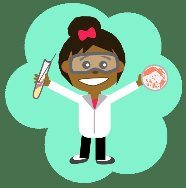 Onlinelabels Clip Art - Science Girl 2