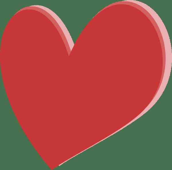 OnlineLabels Clip Art Layered Heart