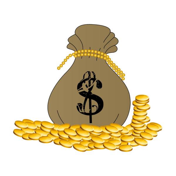 Onlinelabels Clip Art - Bag Of Cash