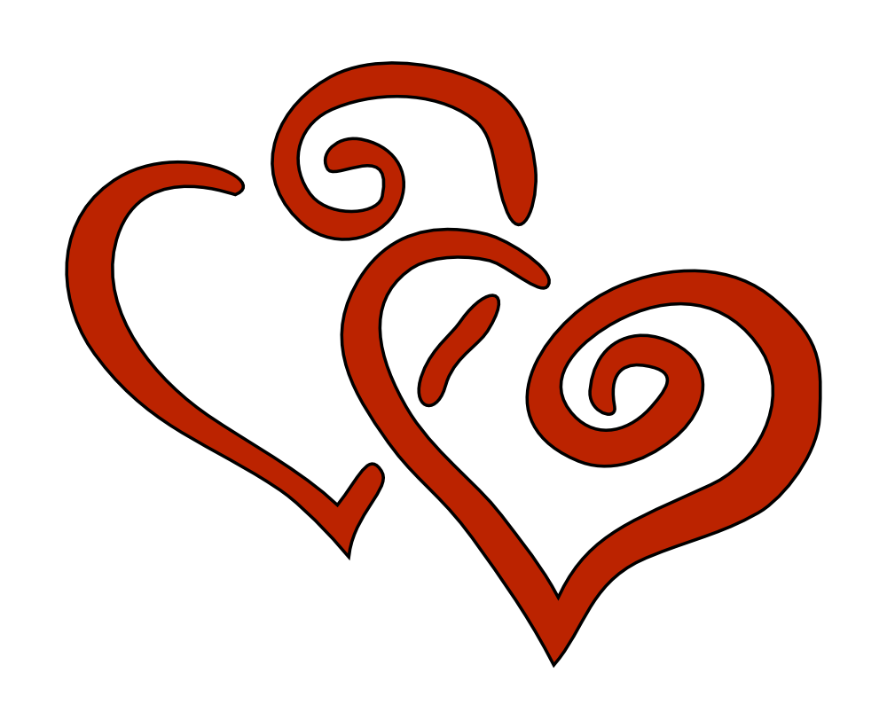 Download OnlineLabels Clip Art - 2 Hearts