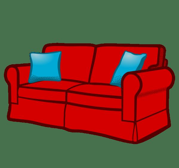 Onlinelabels Clip Art - Sofa Coloured