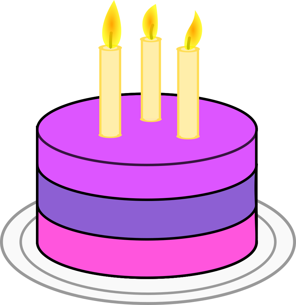 Onlinelabels Clip Art Birthday Cake
