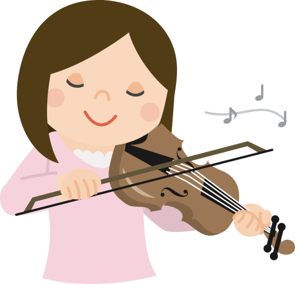 Onlinelabels Clip Art - Girl With Violin