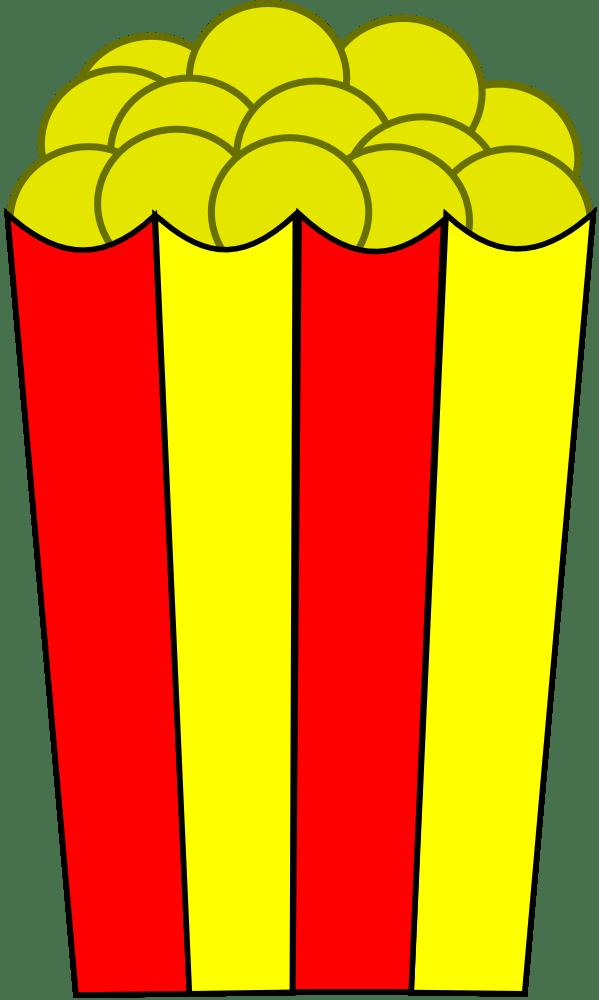 onlinelabels clip art - popcorn
