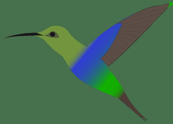 onlinelabels clip art - humming-bird