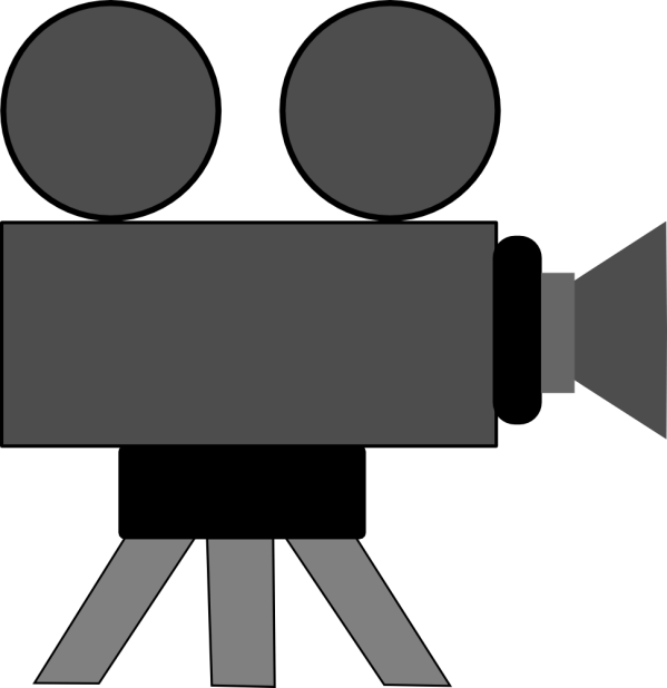 Onlinelabels Clip Art - Movie Camera
