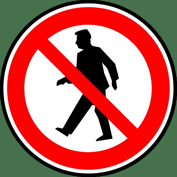 No Walking Sign Clip Art