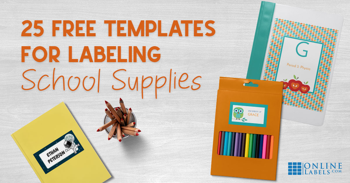 Whether you need to print labels for closet and pantry organization or for shipping purposes, you can make and print custom labels of your very own. 25 Free Label Templates For Back To School 128218 9999 65039 127890