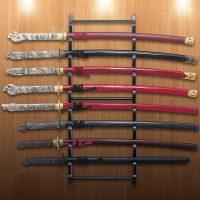 Black Wall Mount Sword Display - Holds Eight Swords   BUDK ...