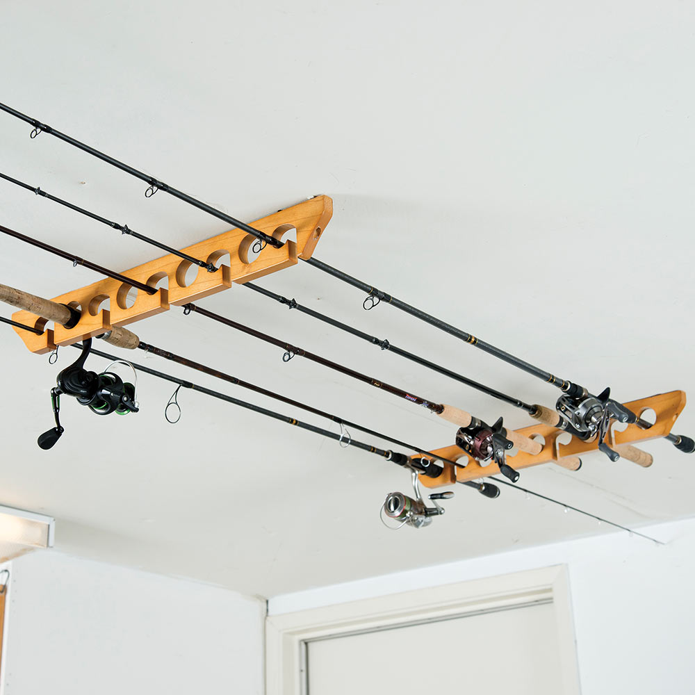 Wooden Ceiling Rod Rack
