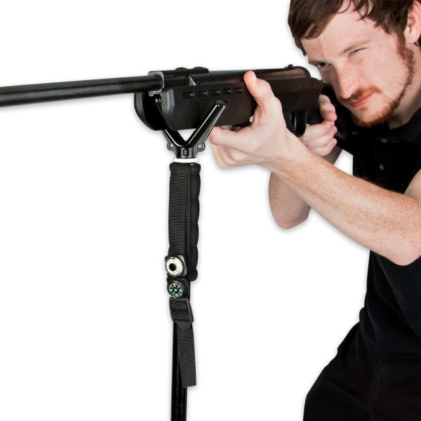 Walking Stick With Rifle Mount Survival