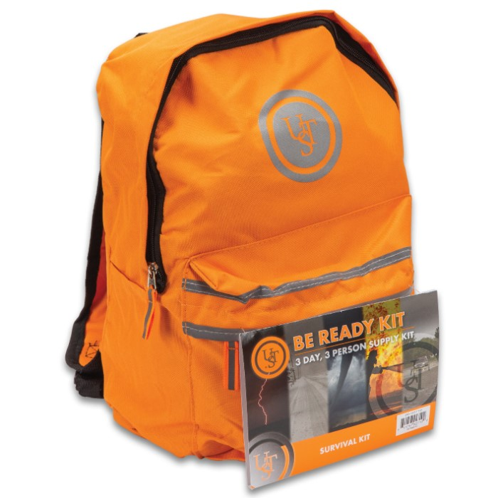 Orange Emergency Backpack
